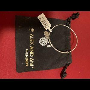 NWT Alex + Ani silver snowflake bangle bracelet